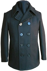 Fidelity Satin Lined Naval Wool Peacoat