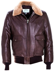 Schott NYC 594 Cowhide Flight Jacket w/Removable Collar