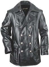 Schott 650 Double Breasted Military Leather Jacket