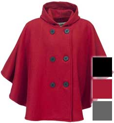 Schott 703W Wool Double Breasted Cape with Hood