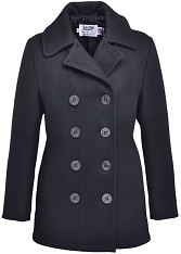 Schott 750W Ladies Peacoat in Melton Wool