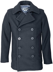 Schott 751 Slim Fit Fashion Wool Peacoat