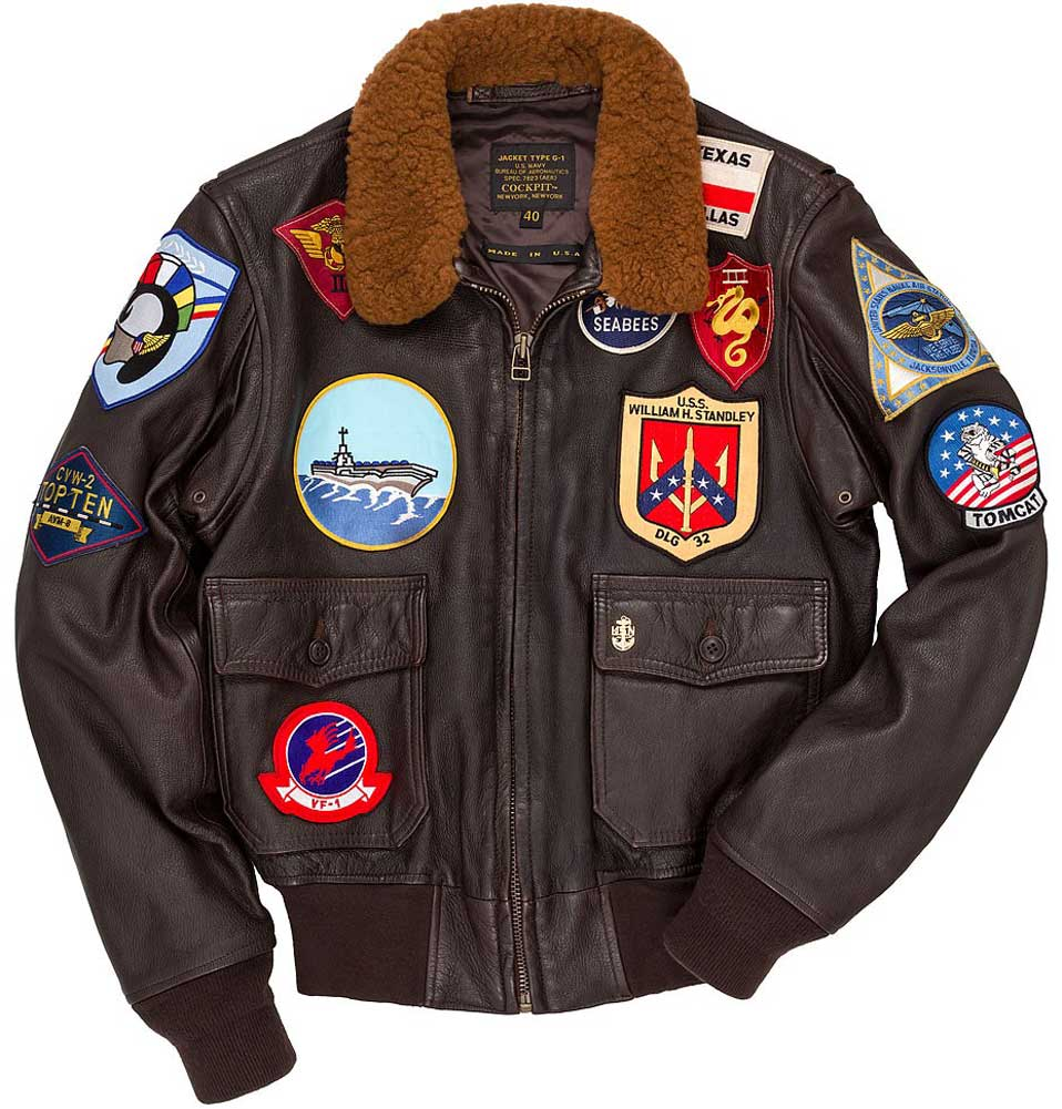 Cockpit Mens Reproduction Top Gun G-1 Leather Flight Jacket