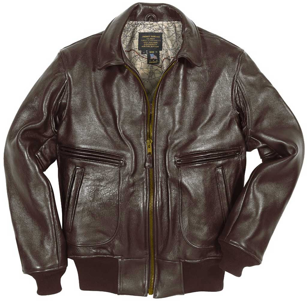 Cockpit Mens Modified Raider Leather Flight Jacket