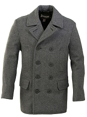 Schott DU704I Mens Slim Fitting Wool Peacoat