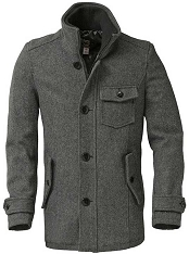 Schott DU738 Mens Slim Fitting Wool Car Coat