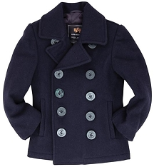 Alpha Kids USN Wool Naval Peacoat