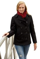 Sterlingwear Mariner Ladies 100% Wool Naval Peacoat
