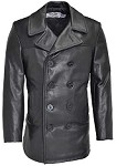 Schott 140 Naval Peacoat in Naked Leather