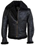 Schott 257S B-3 Black Sheepskin Bomber Jacket
