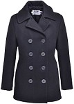 Schott NYC 750W Womens Peacoat in Melton Wool