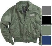 Alpha CWU 45/P Nylon Flight Jacket