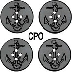 Military Spec Replacement CPO Shirt Buttons 4 pk