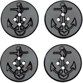 Military Spec Replacement Peacoat Buttons 4 pk