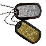 Custom Military Dog Tag Set