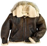 Cockpit Hooded B-3 Sheepskin Bomber Jacket