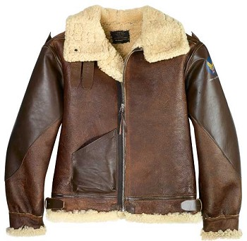 Cockpit Pearl Harbor Reproduction B-3 Sheepskin Bomber Jacket