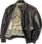 Cockpit Antique Lambskin Leather A-2 Flight Jacket