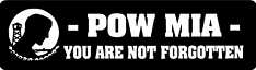 POWMIA You Are Not Forgotten Helmet Sticker