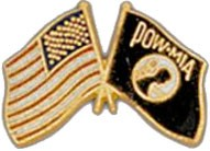 POW-MIA Flag Pin