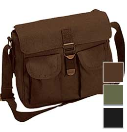 Rugged Canvas Shoulder Bag