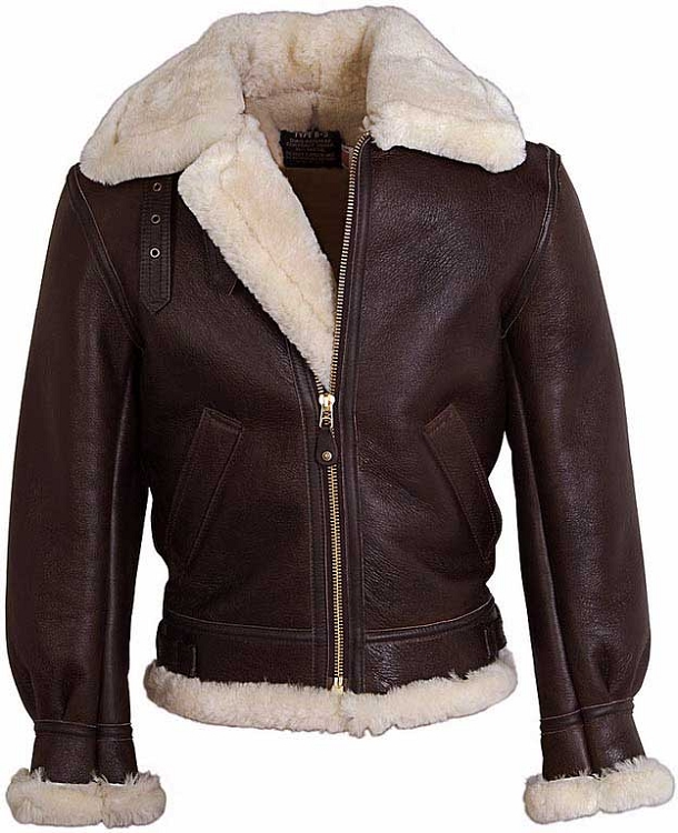 Schott NYC Mens 257S B-3 Sheepskin Bomber Jacket