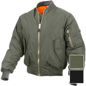 Rothco Mens Enhanced MA-1 Nylon Flight Jacket