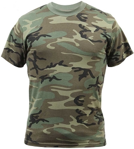 Rothco Mens Vintage Finish Camouflage T-Shirt