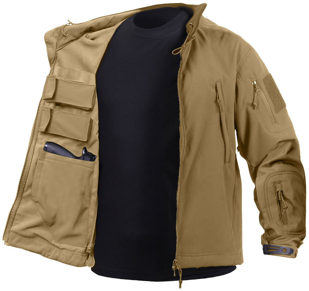 3355a8a03dbc Rothco Mens Tactical Concealed Carry Soft Shell Jacket