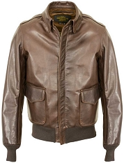 Schott NYC Mens 574 Waxed Cowhide A-2 Flight Jacket