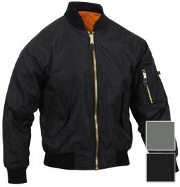 Rothco Mens Lightweight MA-1 Nylon Bomber Jacket