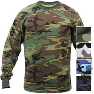 Rothco Mens Tactical Camouflage Long Sleeve Shirt