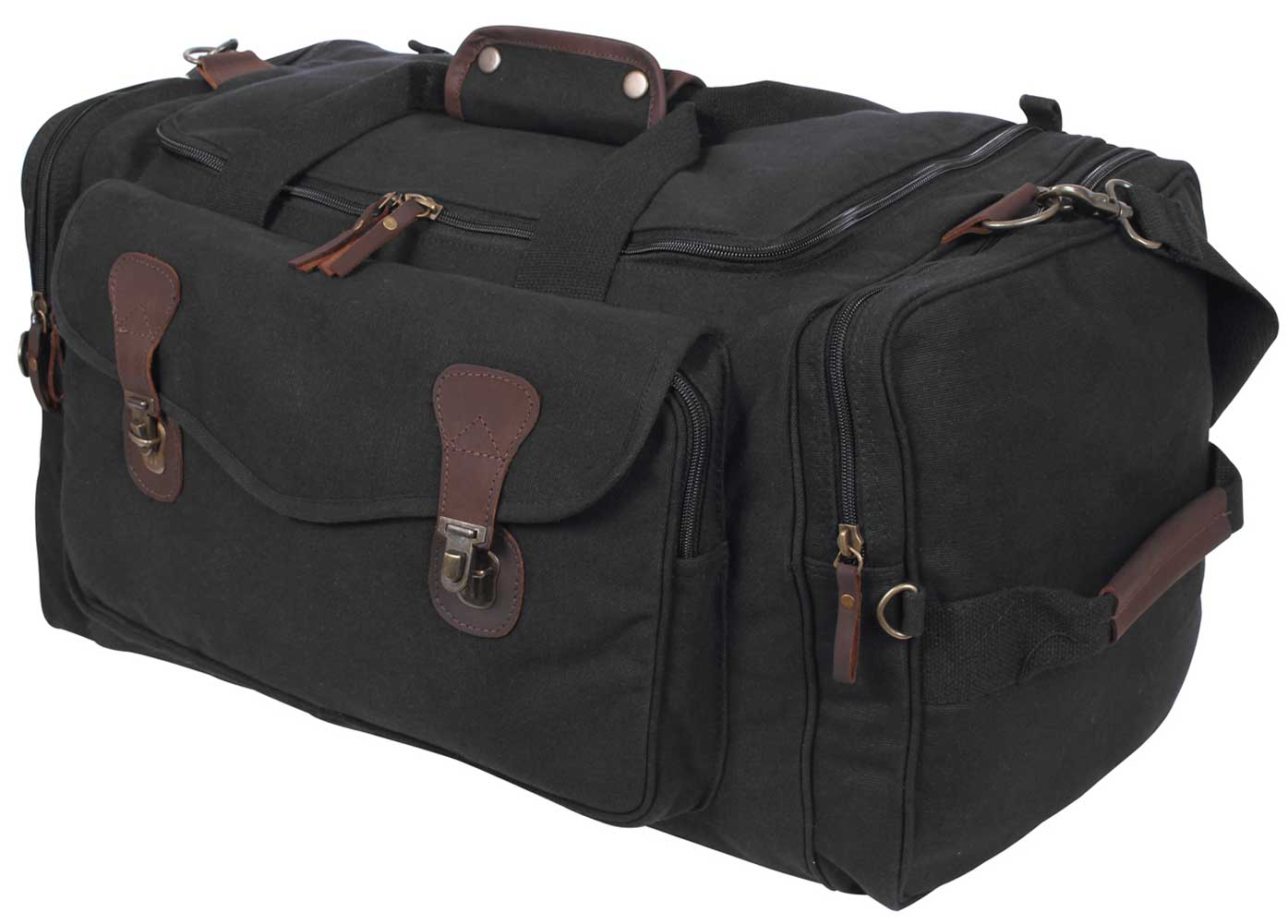 d0f0cff958 Rothco Canvas Leather Gym Duffle Bag