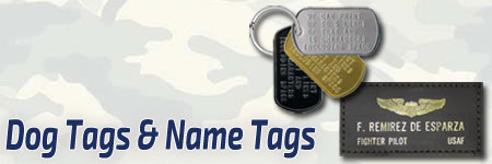 Dog Tags & Leather Name Tags