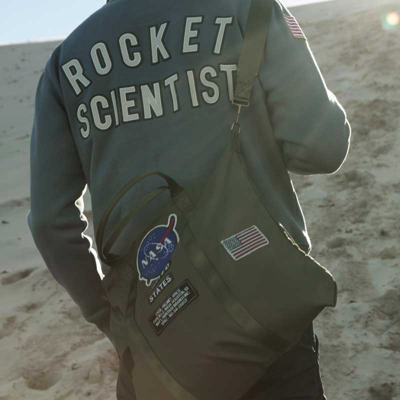 Wokeyia Geek Mens Jackets Full Zip NASA Its Rocket Science Jacket