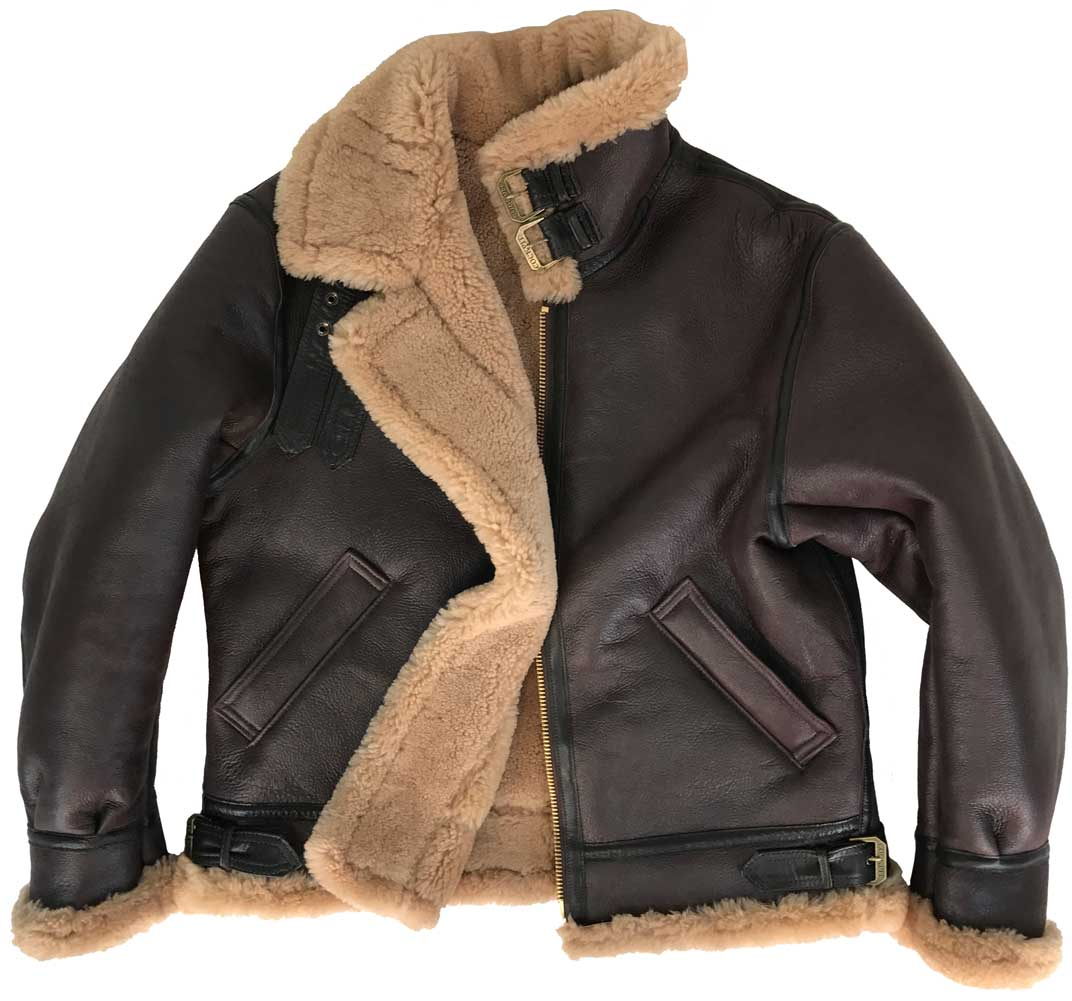 Cockpit Mens Spitfire B-3 Sheepskin Bomber Jacket