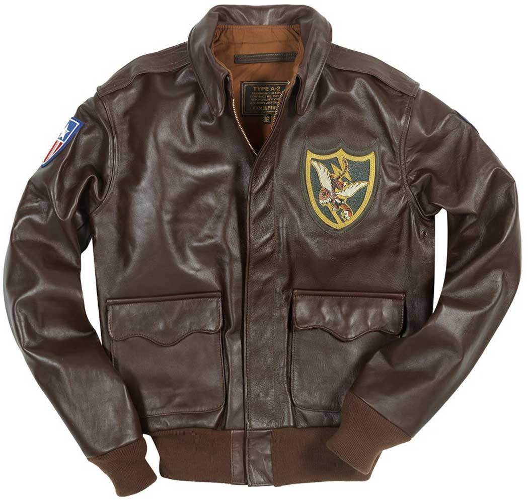 Cockpit Mens Flying Tigers Horsehide A-2 Flight Jacket b32bf3f43ba