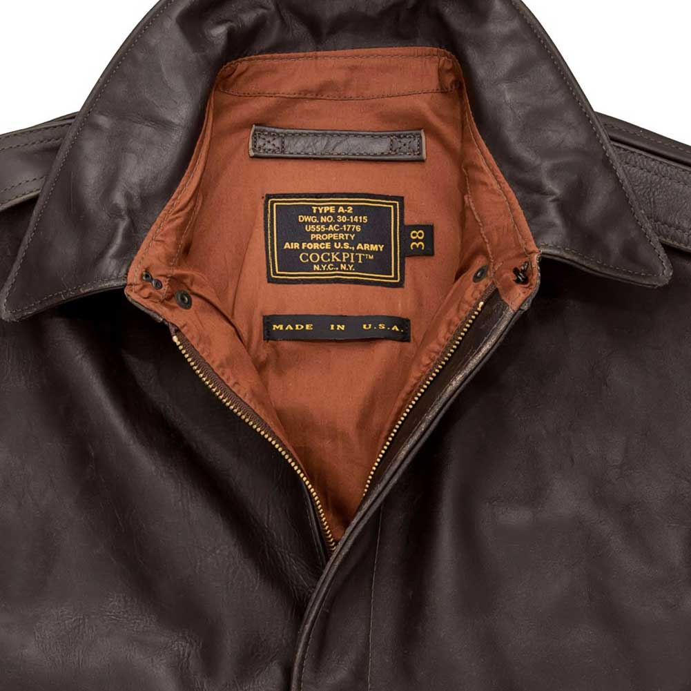 c88cd52a7ea Cockpit Mens 40th Anniversary Horsehide A-2 Flight Jacket