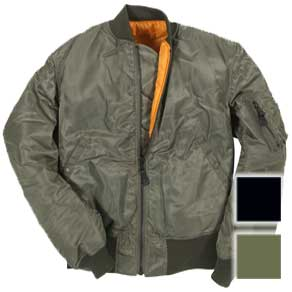 Cockpit Mens MA-1 Nylon Bomber Flight Jacket