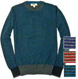 Cockpit Mens Striped Crew Neck Sweater