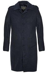 Schott NYC Mens C729 Navy Wool Officers Coat
