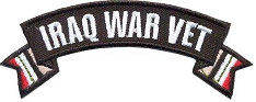 Iraq War Vet Small Rocker Patch
