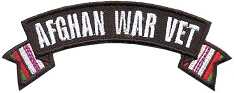 Afghan War Vet Small Rocker Patch