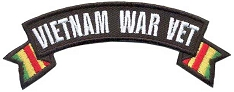 Vietnam War Vet Small Rocker Patch