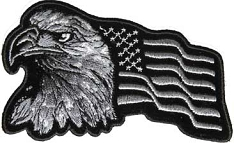 Grey Camouflage Eagle & Flag Patch