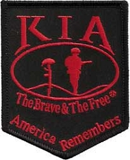 Killed In Action KIA Patch