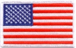 American Flag Uniform Patch with White Border