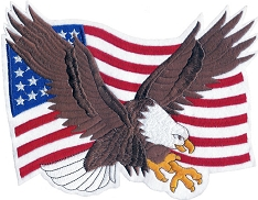 Large Embroidered Flag & Eagle Patch