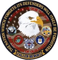 Military Memorial Patch - Fallen Heroes