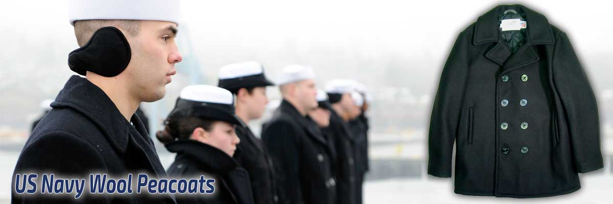 US Navy Style Wool Pea Coats (Peacoat) for Men and Women |Ace Jackets